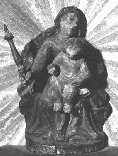Bildnis aus dem 15. Jahrhundert  « Unsere liebe Frau von Muttenz bitte für uns» Bildnis aus dem 15. Jahrhundert, gefunden 1928 bei der Renovation eines Hauses in Muttenz unter der Türschwelle. Heute aufbewahrt hinter Glas beim rechten Weihwasserbecken in unserer Kirche.